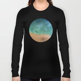 Blue Ocean Sea Shoreline - Drone photography Long Sleeve T-shirt