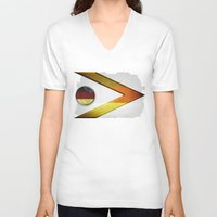 germany V-neck T-shirts featuring Germany by ilustrarte
