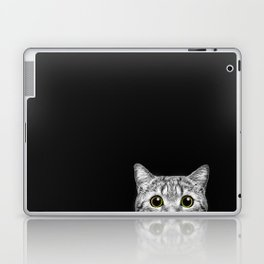 Curious Cat Peeking, Sneaky Kitty, Kitty Photography, Cat, Cats Laptop & iPad Skin