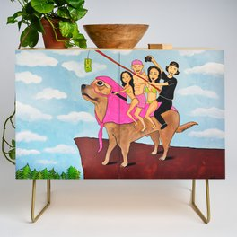 Riding Durte: Living On The Edge Credenza