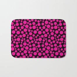 Black and pink polka dot pattern . Bath Mat