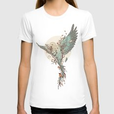 Tempus Fugit White Womens Fitted Tee MEDIUM