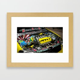 The Backyard Brawler Framed Art Print