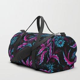Queen of the Night - Black Purple Duffle Bag