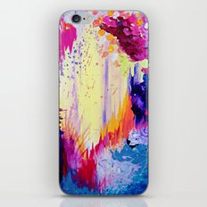 IN TIMES OF CHAOS - Intense Nature Abstract Acrylic Painting Wild Rainbow Volcano Waves Fine Art  iPhone & iPod Skin