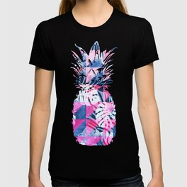 Abstract Hot Pink Geometric Tropical Design T-shirt