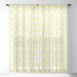 Yellow Grid Sheer Curtain
