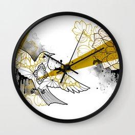 flower and bird Wall Clock