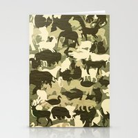 camouflage Stationery Cards featuring Camouflage by Diego Tirigall