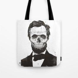 Dead Lincoln (b&w) Tote Bag