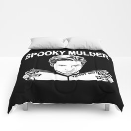 Spooky Mulder (black) Comforters