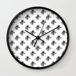 Seamless Background Astronaut Wall Clock