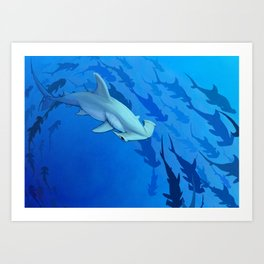 Shark week _The Hammer Art Print