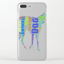 dog animal great typography Clear iPhone Case