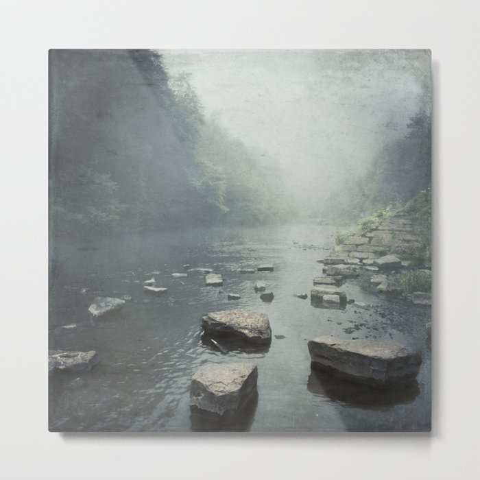 step stones - river and valley Metal Print