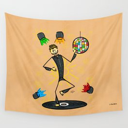 Dancer in disco Wall Tapestry