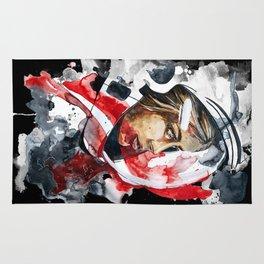cosmonaut portrait by carographic Rug