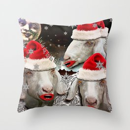 Midnight caroling was really catching on! Throw Pillow