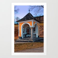 Beautiful chapel along the way | architectural photography Art Print