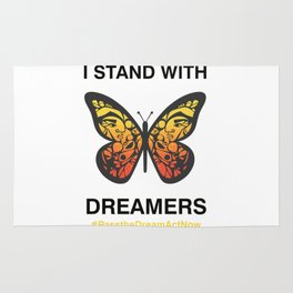 I Stand With Dreamers Butterfly Rug