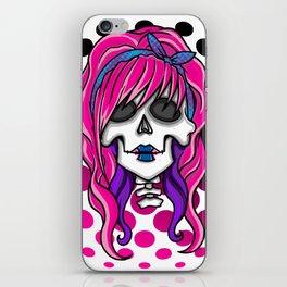 'Rockabilly skull' iPhone Skin