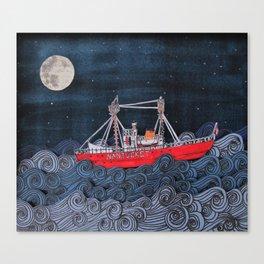 Nantucket Paper-Cut Diorama  Canvas Print