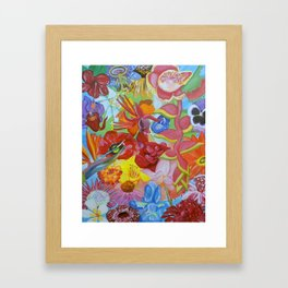 All of the Beautiful Flowers Framed Art Print