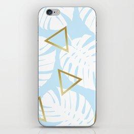 Watercolor tropical leaf XII iPhone Skin