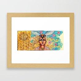 Bee Priestess Framed Art Print