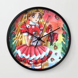 Usagi Merry Christmas Wall Clock