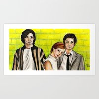 the perks of being a wallflower Art Prints featuring The Perks of Being a Wallflower by Elena Olshin
