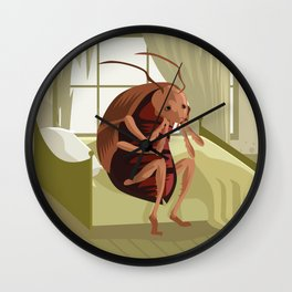 kafka metamorphosis Wall Clock
