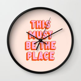 This Must Be The Place: The Peach Edition Wall Clock