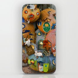 Fall Pumpkin Fantasy Tiny House Village iPhone Skin