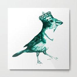 Crown Bird Metal Print