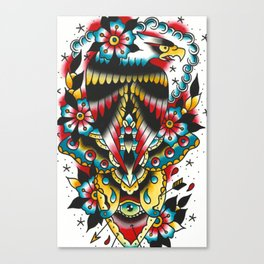 Eagle and eyes Canvas Print