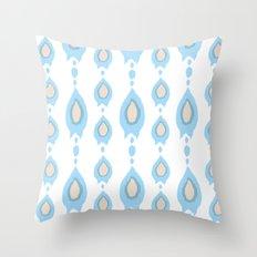 blue ikat arrows Throw Pillow