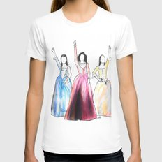 Schuyler Sisters MEDIUM Womens Fitted Tee White