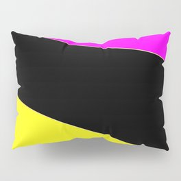Angelica . Lemon , raspberry , black Pillow Sham