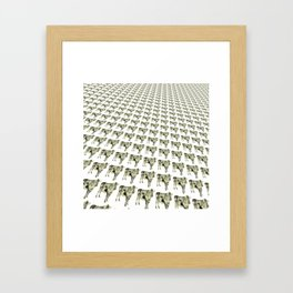Cows in a row pattern Framed Art Print