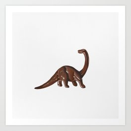 Plastic Brontosaurus Art Print