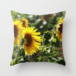 The German Sunflower Throw Pillow