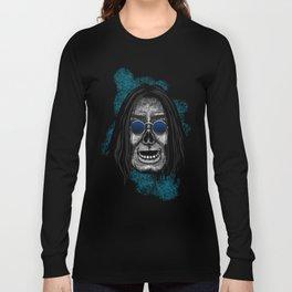 Ozzy style Errorface Skull Long Sleeve T-shirt