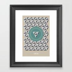 Geometria   Blue Framed Art Print
