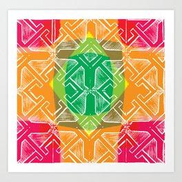 Criss Cross Squares Art Print