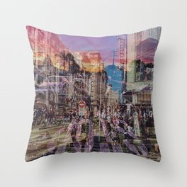 San Francisco city illusion Throw Pillow