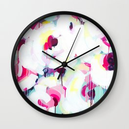 Bloom - Abstract Painting by Jen Sievers Wall Clock
