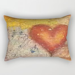 A Frayed Heart Rectangular Pillow