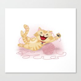 Naughty cat Canvas Print
