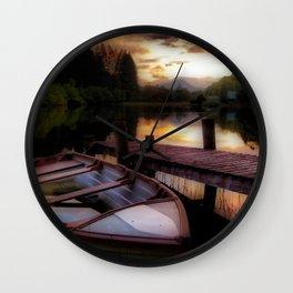 Summer Sunset Over Loch Ard Wall Clock